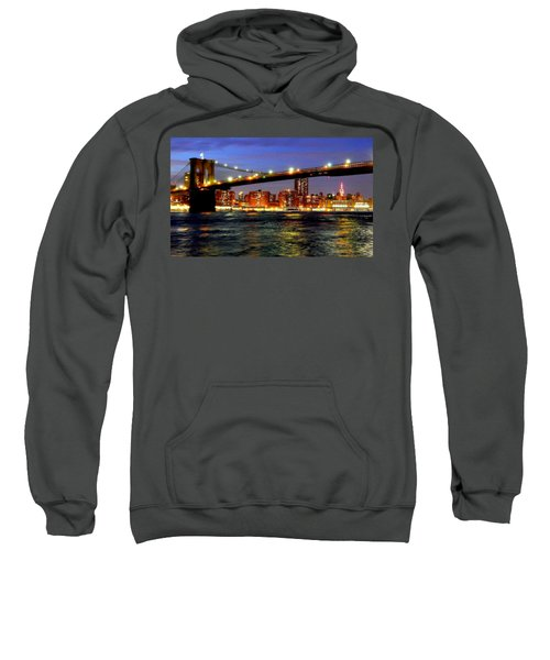 Brooklyn Bridge At Night Sweatshirt