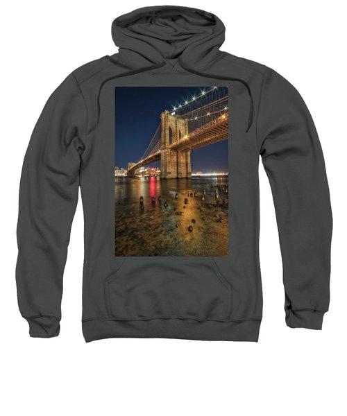Brooklyn Bridge At Night Sweatshirt