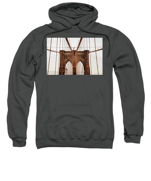 Sweatshirt featuring the photograph Brooklyn Bridge by MGL Meiklejohn Graphics Licensing