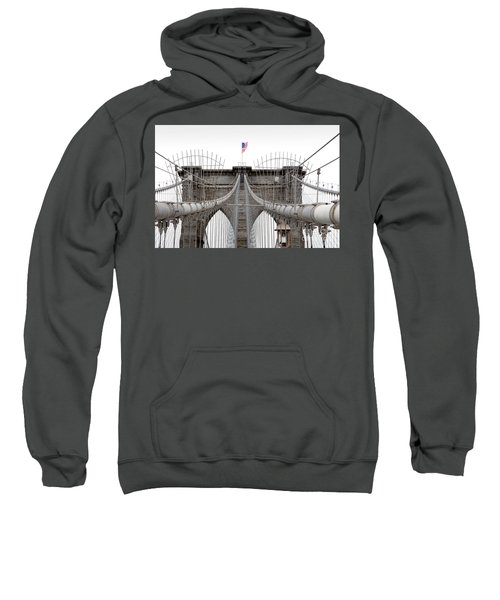 Sweatshirt featuring the photograph Brooklyn Bridge Top by Peter Simmons