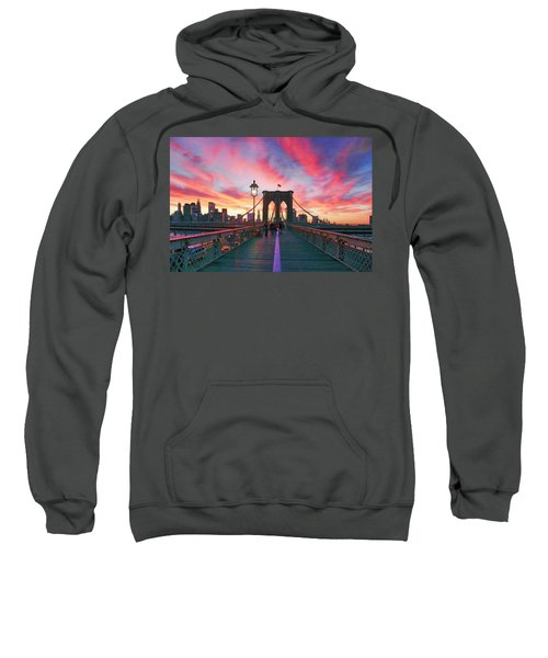 Brooklyn Sunset Sweatshirt by Rick Berk