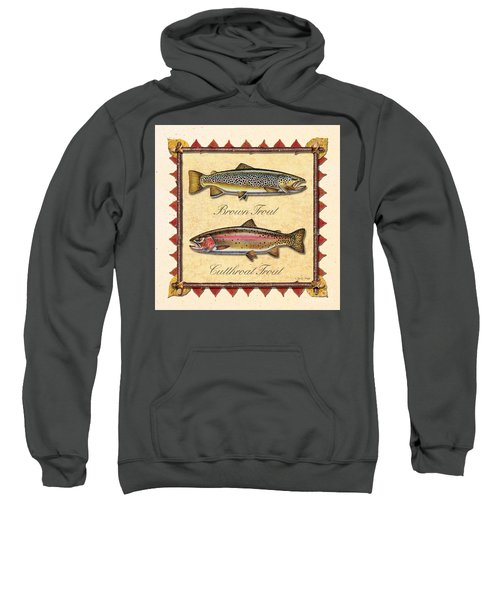 Brown And Cutthroat Creme Sweatshirt