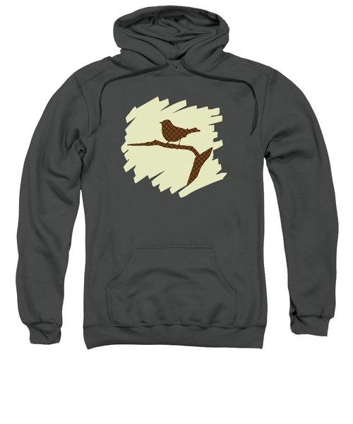 Brown Bird Silhouette Modern Bird Art Sweatshirt
