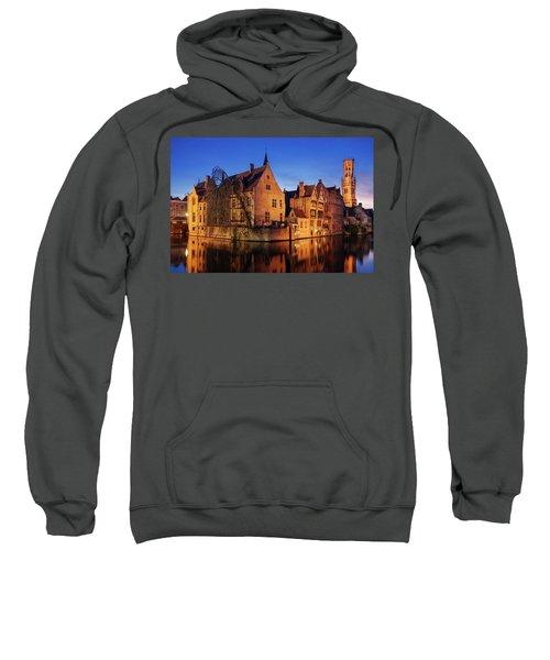 Bruges Architecture At Blue Hour Sweatshirt