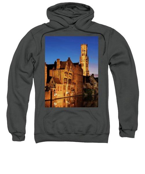 Bruges Belfry At Night Sweatshirt