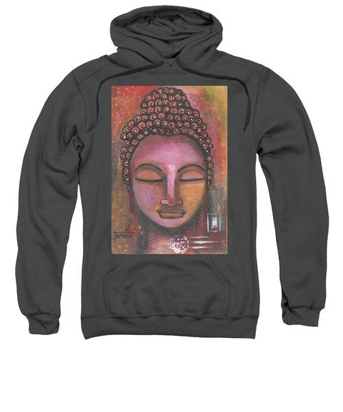 Buddha In Shades Of Purple Sweatshirt
