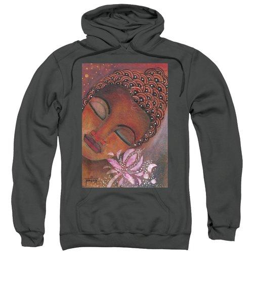 Buddha With Pink Lotus Sweatshirt