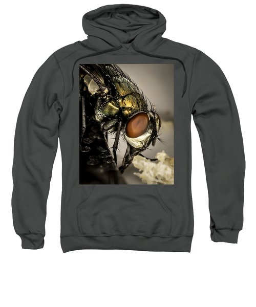 Sweatshirt featuring the photograph Bug On A Bug by Chris Cousins