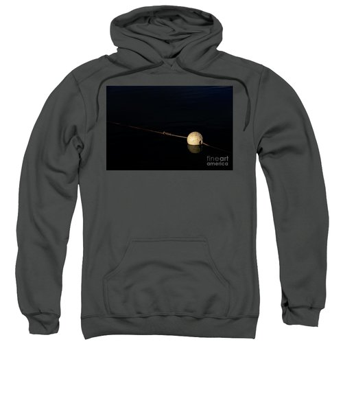 Sweatshirt featuring the photograph Buoy At Night by Stephen Mitchell