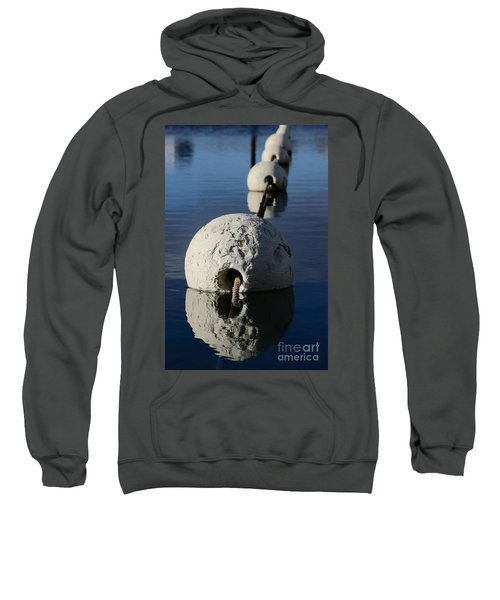 Sweatshirt featuring the photograph Buoy In Detail by Stephen Mitchell