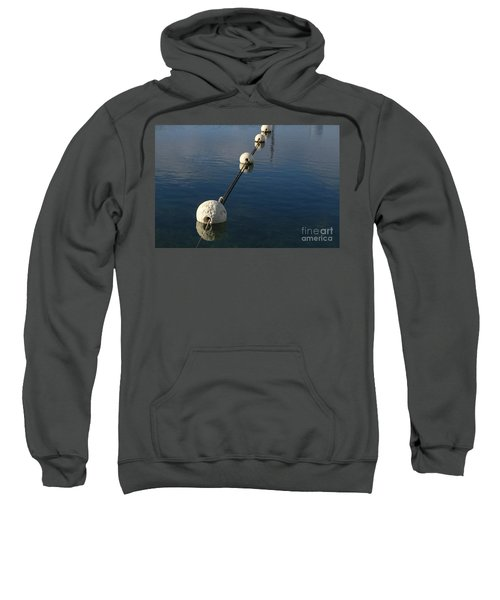 Sweatshirt featuring the photograph Buoys In Aligtnment by Stephen Mitchell