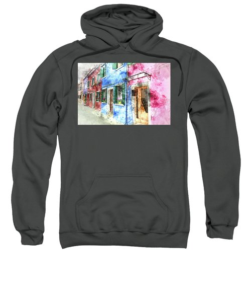 Burano Italy Buildings Sweatshirt
