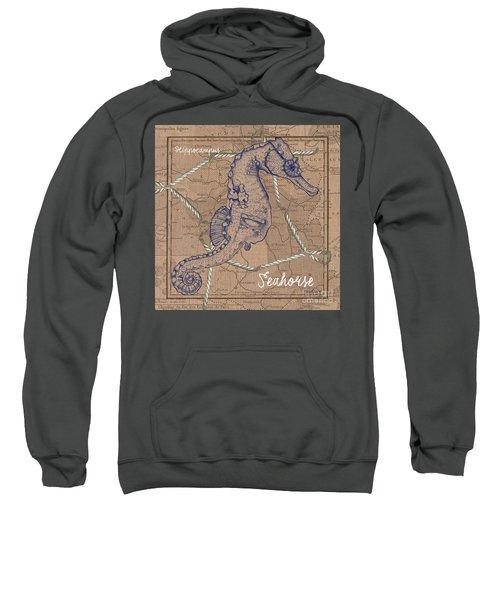 Burlap Seahorse Sweatshirt