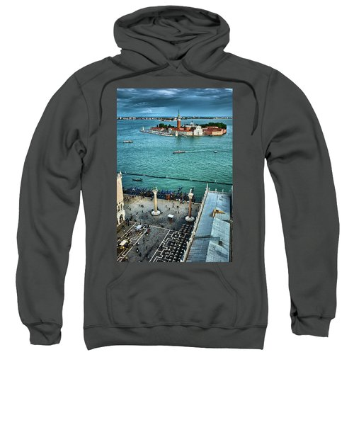 Piazza San Marco And San Giorgio Di Maggiore From The Bell Tower In Venice, Italy Sweatshirt