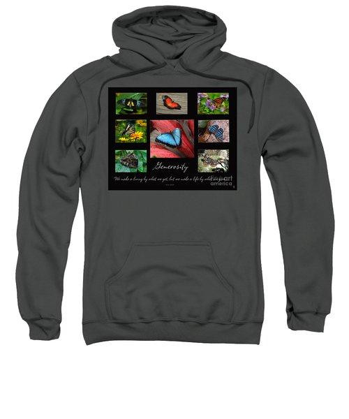 Butterfly Generosity Collage Sweatshirt
