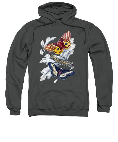 Butterfly Moth T Shirt Design Sweatshirt by Bellesouth Studio