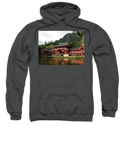 Sweatshirt featuring the photograph Byodo-in Temple, Oahu, Hawaii by Mark Czerniec