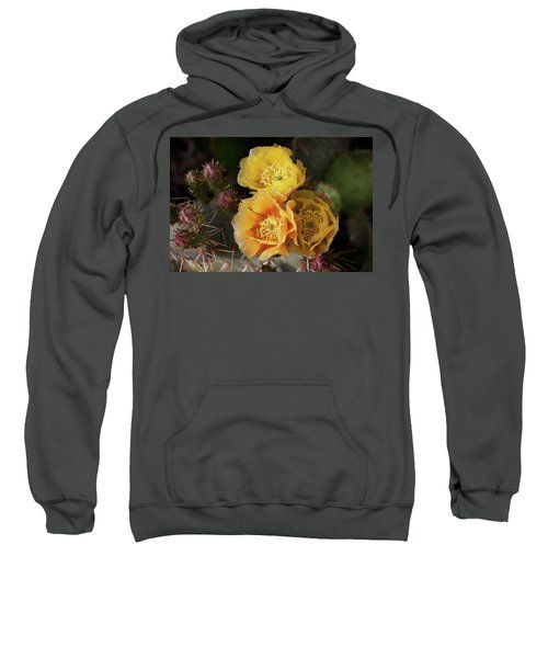 Yellow Cactus Flowers Sweatshirt
