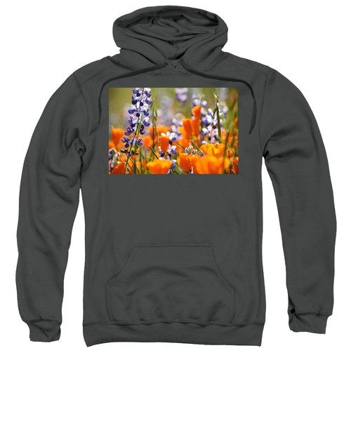 California Poppies And Lupine Sweatshirt
