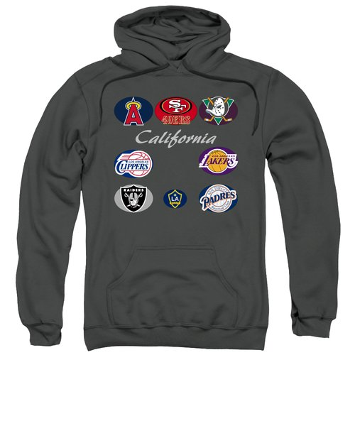 California Professional Sport Teams Collage  Sweatshirt