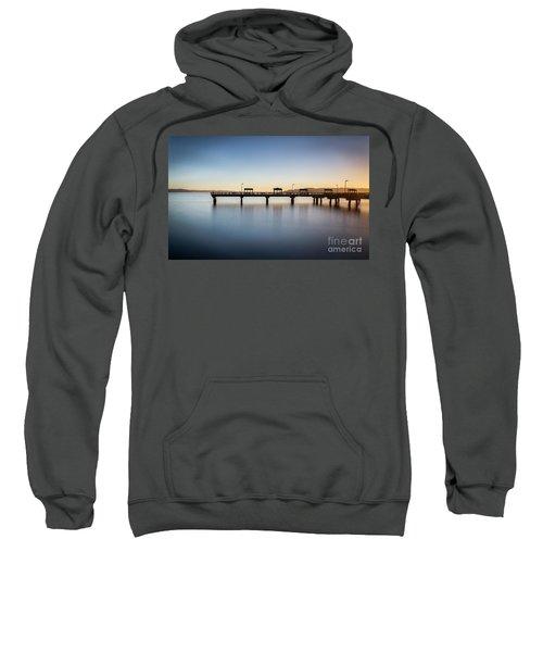 Calm Morning At The Pier Sweatshirt