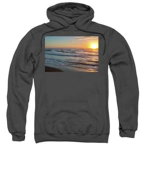 Calm Water Over Wet Sand During Sunrise Sweatshirt