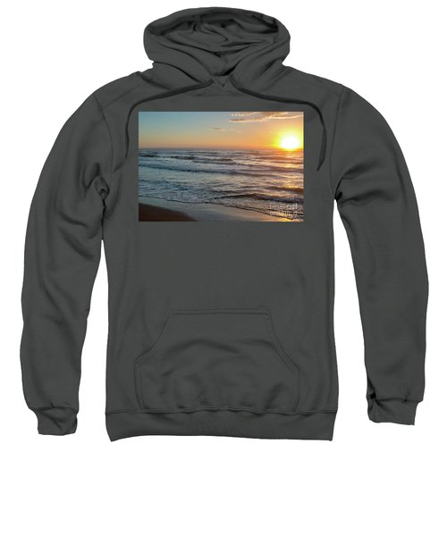 Calm Water Over Wet Sand During Sunrise Sweatshirt