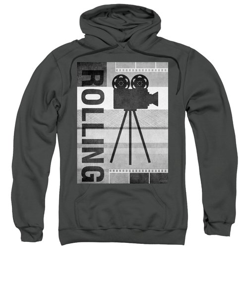 Cameras Rolling- Art By Linda Woods Sweatshirt