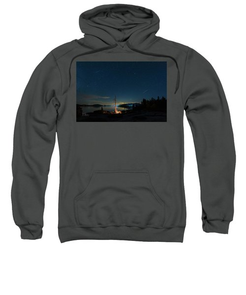 Sweatshirt featuring the photograph Campfire 1 by Jim Thompson