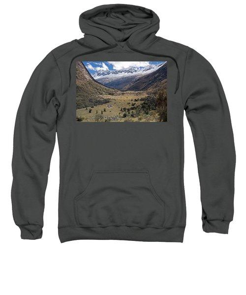 Camping In Huaripampa Valley Sweatshirt