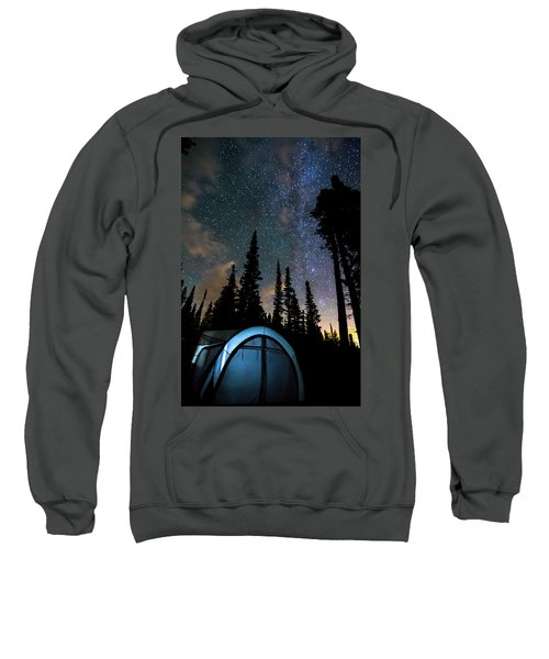 Sweatshirt featuring the photograph Camping Star Light Star Bright by James BO Insogna