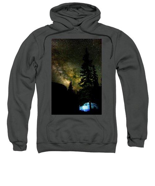 Camping Under The Milky Way Sweatshirt