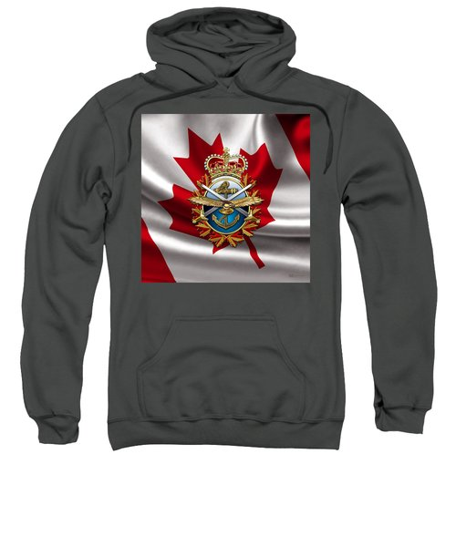 Canadian Forces Emblem Over Flag Sweatshirt
