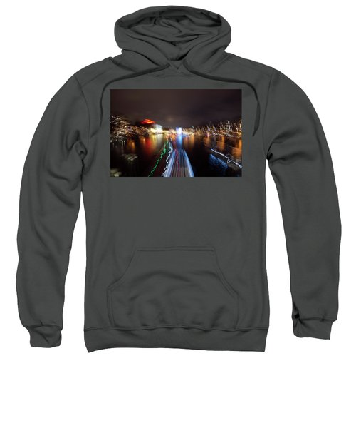 Canal Streaking Abstract Sweatshirt