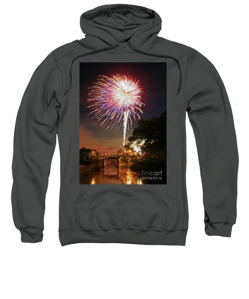 Canal View Of Fire Works Sweatshirt