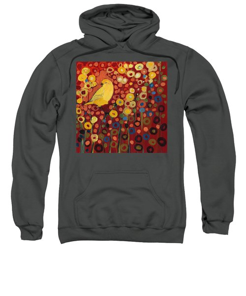 Canary In Red Sweatshirt
