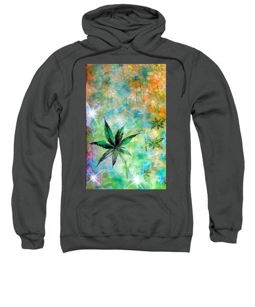 Cannabis Sativa Leaf - 02 Sweatshirt