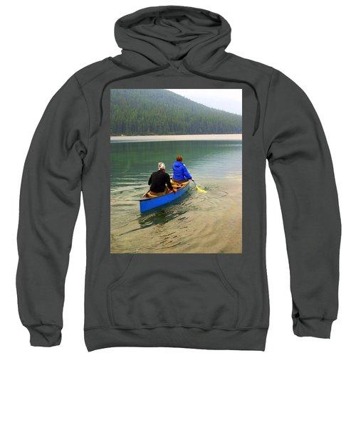 Canoeing Glacier Park Sweatshirt
