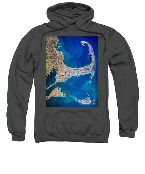 Cape Cod And Islands Spring 1997 View From Satellite Sweatshirt