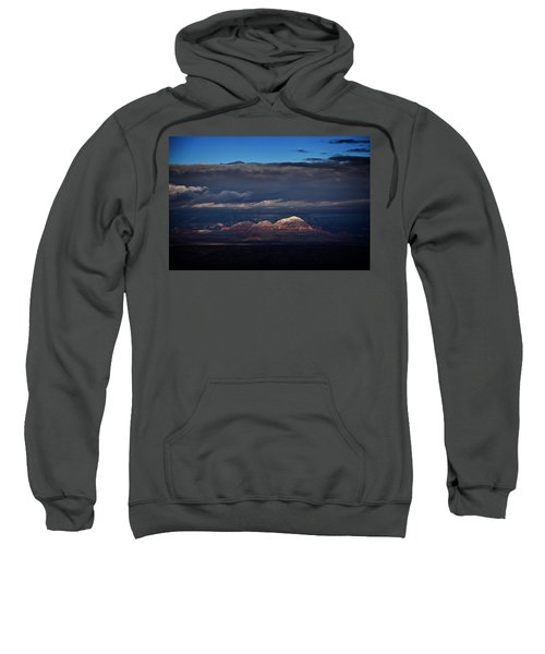 Capitol Butte In Sedona With Snow Sweatshirt