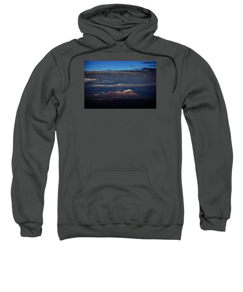 Capitol Butte In Sedona With Snow Sweatshirt