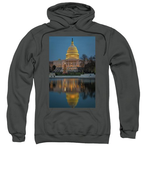 Capitol Reflection At Christmas Sweatshirt