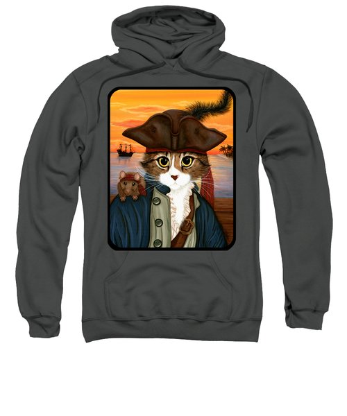 Captain Leo - Pirate Cat And Rat Sweatshirt