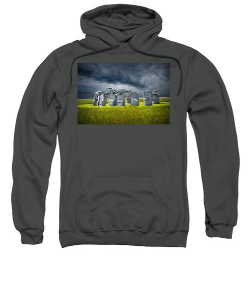 Car Henge In Alliance Nebraska After England's Stonehenge Sweatshirt