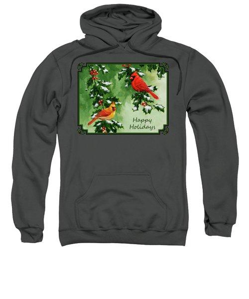 Cardinals Holiday Card - Version With Snow Sweatshirt
