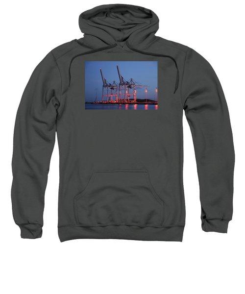 Cargo Cranes At Night Sweatshirt