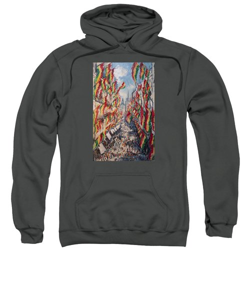 Carnival In The Grote Gracht In Maastricht Sweatshirt by Nop Briex