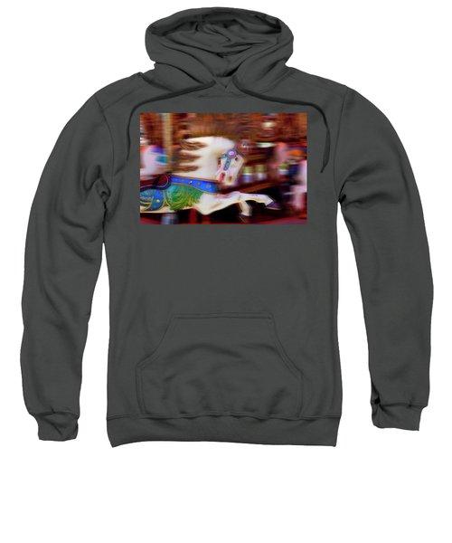 Carousel Horse In Motion Sweatshirt