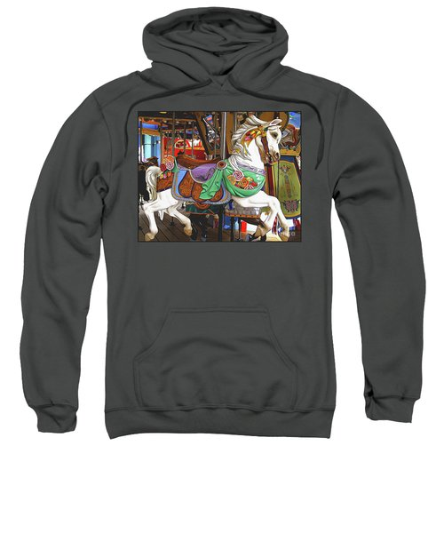 Carousel Horse Side View Sweatshirt