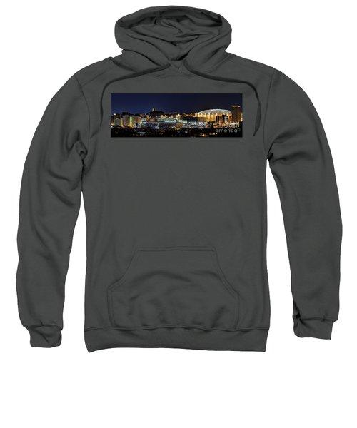 Carrier Dome And Syracuse Skyline Panoramic View Sweatshirt